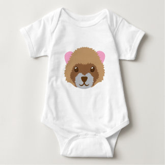 cute ferret face baby bodysuit