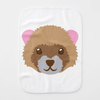 cute ferret face baby burp cloths