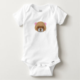 cute ferret face baby onesie
