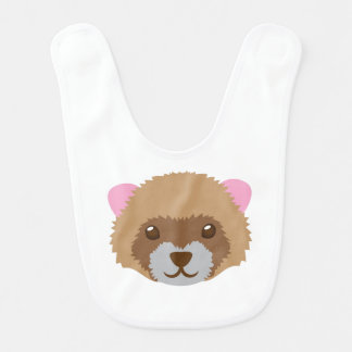 cute ferret face bib