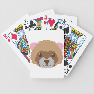 cute ferret face bicycle playing cards