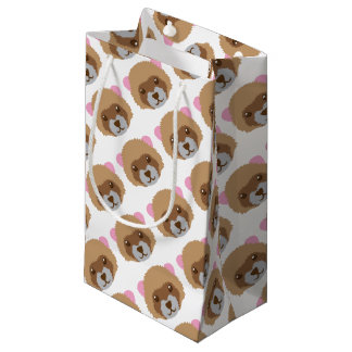 cute ferret face small gift bag