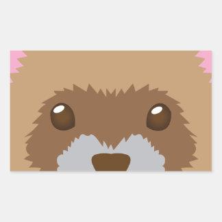 cute ferret face sticker