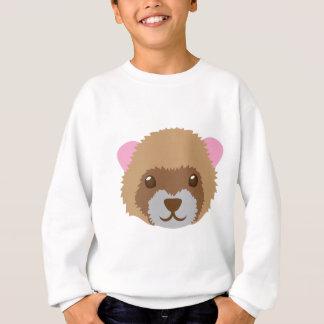 cute ferret face sweatshirt