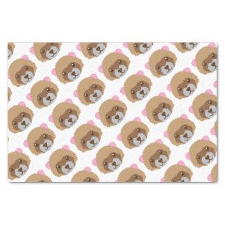 cute ferret face tissue paper