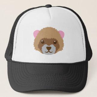cute ferret face trucker hat