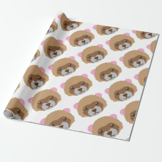 cute ferret face wrapping paper