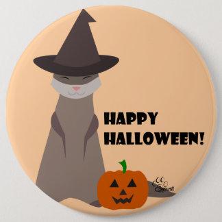 Cute Ferret Halloween Button