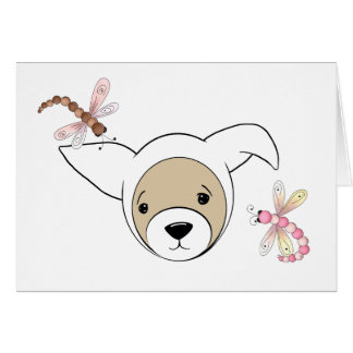 Cute Ferret in Easter Bunny Costume Greeting Card