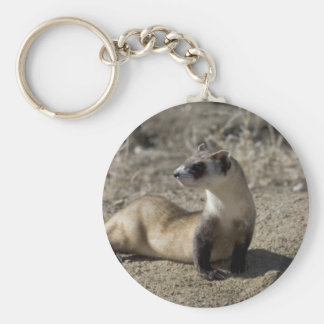 Cute Ferret Lover Tees and Gifts Basic Round Button Keychain