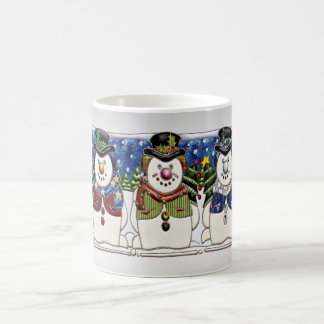 Cute Festive Snowmen Coffee Mug