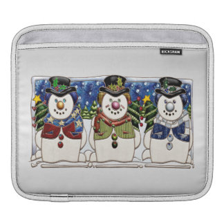 Cute Festive Snowmen iPad Sleeve