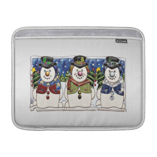Cute Festive Snowmen MacBook Air Sleeves