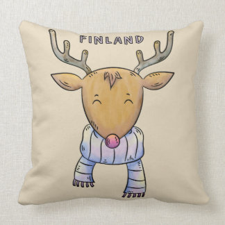 Cute Finland Reindeer throw pillows