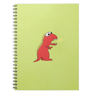 Cute Fire Breath Cartoon T-Rex Dinosaur Kids Notebooks