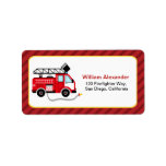 Cute Firefighter Address Labels