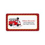 Cute Firefighter Address Labels