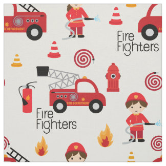 Cute Firefighters fabric