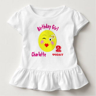 Cute First Birthday Special Personalized Toddler T-shirt
