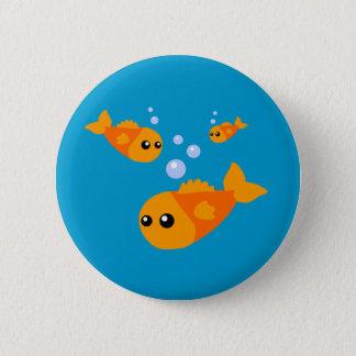 Cute Fish 2 Inch Round Button