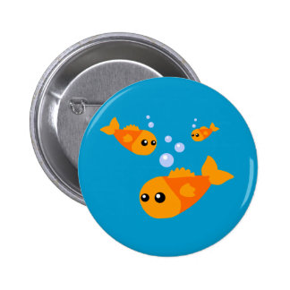 Cute Fish 2 Inch Round Button