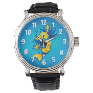 Cute fish cartoon watch