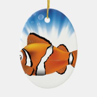 Cute fish ceramic ornament