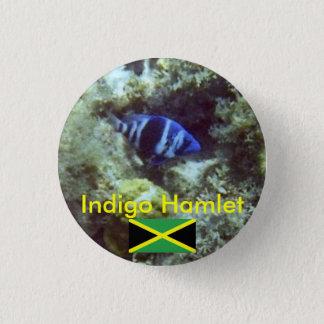 Cute Fish,  Indigo Hamlet, Jamaica 1 Inch Round Button