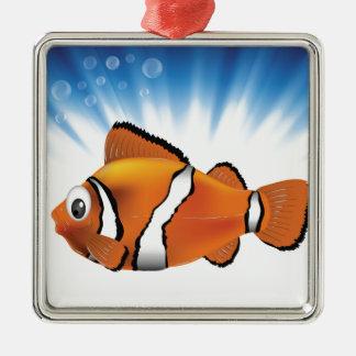 Cute fish metal ornament