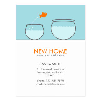Cute Fish New Home Funny Postcards