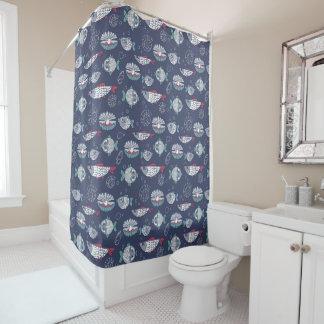 Cute Fish Pattern shower curtain