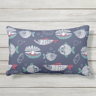 Cute Fish Pattern throw pillows