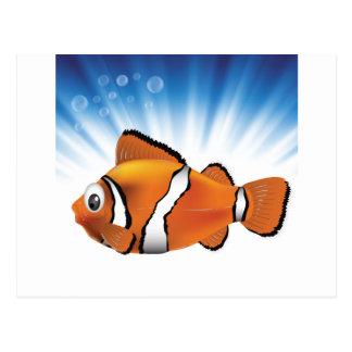 Cute fish postcard