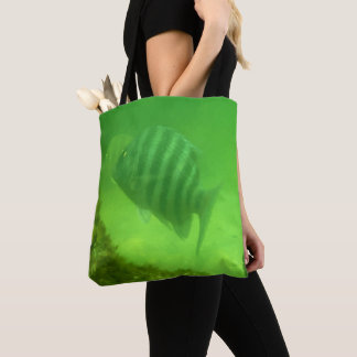 Cute Fish Underwater Photo Print Tote Bag