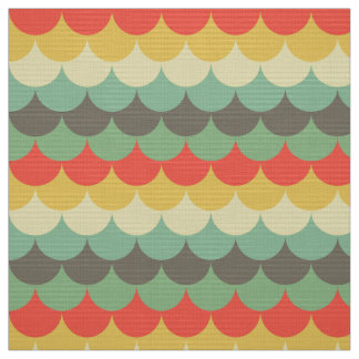 Cute fishscale pattern retro fabric