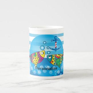 Cute Fishy Bubbles Baby Shower Theme Tea Cup