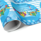 Cute Fishy Bubbles Baby Shower Theme Wrapping Paper