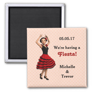 Cute Flamenco Dancer (Personalized) Magnet