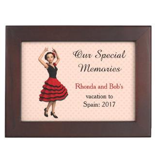 Cute Flamenco Dancer (Personalized) Memory Box