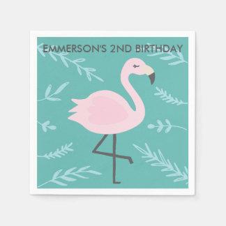 Cute Flamingo Pastel Personalized Party Napkin Disposable Napkin