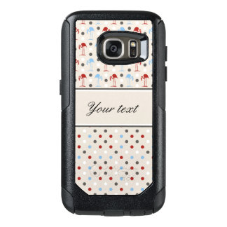 Cute Flamingos and Polka Dots OtterBox Samsung Galaxy S7 Case