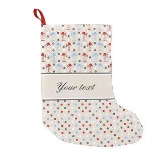Cute Flamingos and Polka Dots Small Christmas Stocking