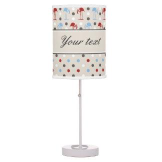 Cute Flamingos and Polka Dots Table Lamp