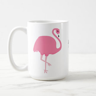 Cute Flamingos custom text mugs