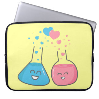Cute flasks in love, we've got chemistry laptop computer sleeve