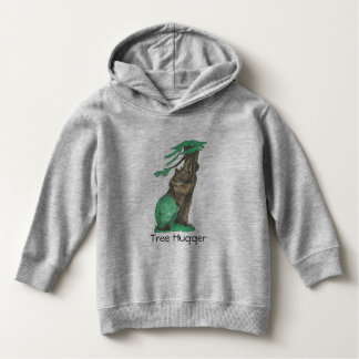 Cute Fleece Tree Hugging Bear Wearing Leggings Hoodie