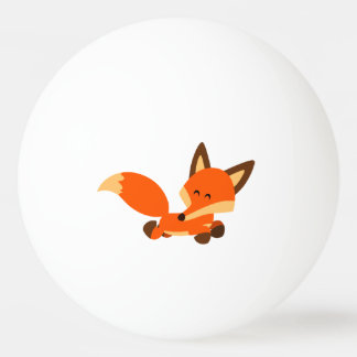 Cute Fleet Cartoon Fox Ping Pong Ball
