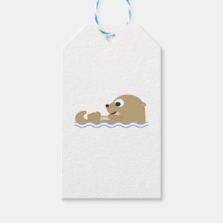 Cute Floating Otter Gift Tags