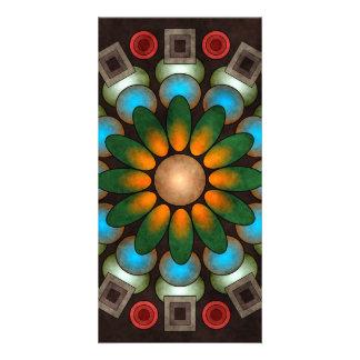 Cute Floral Abstract Vector Art Photo Card