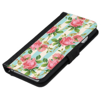 cute floral case,roses iPhone 6 wallet case